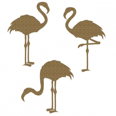 Creative Embellishments - Chipboard  «Pink flamingos»