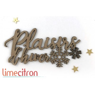 Lime Citron - Chipboard «Plaisirs d'hiver»