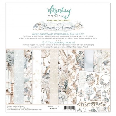 "Mintay - Papier 12"" X 12""  collection «Precious Moment» 12 pages recto-verso"