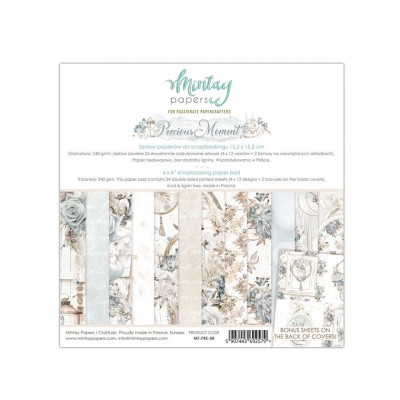 "Mintay - Papier 6"" X 6""  collection «Precious Moment» 24 pages recto-verso"