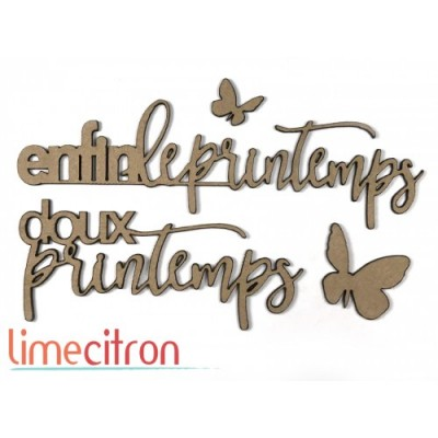 Lime Citron - Chipboard «printemps»
