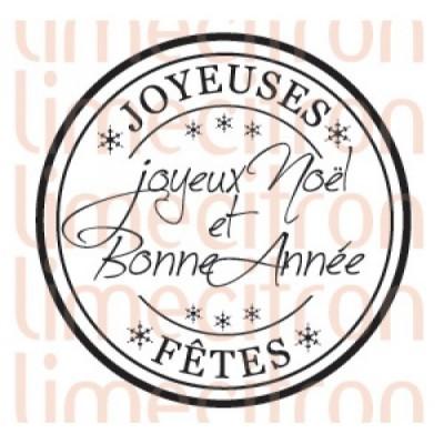 Lime Citron - estampe «Joyeux Noël et bonne année»
