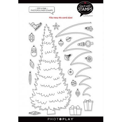 PhotoPlay -Estampe modèle «#9 Trim A Tree» de la collection «Say It With Stamps» 20 pcs