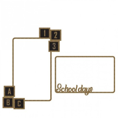 Creative Embellishments - Chipboard  «school days frame set»