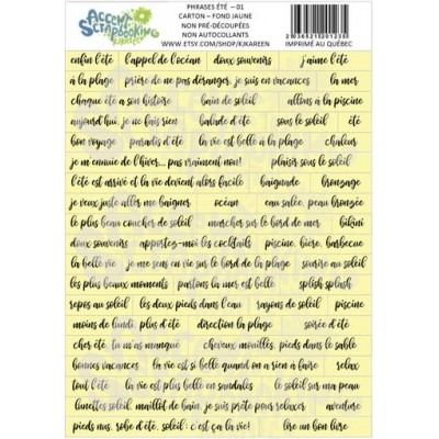 "Accent Scrapbooking - ""Phrases d'été 01"" jaune"