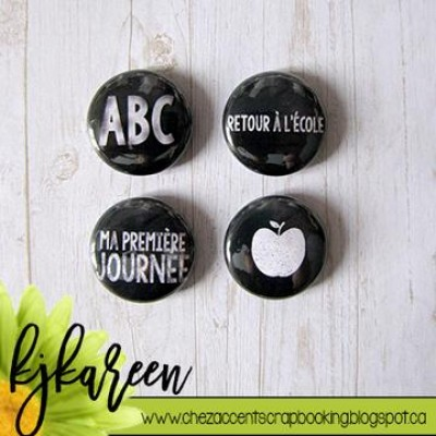 "Accent Scrapbooking - Badges modèle ""ABC"""