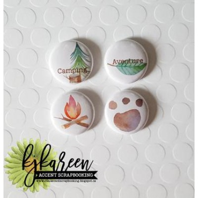 "Accent Scrapbooking - Badges modèle ""Camping"""