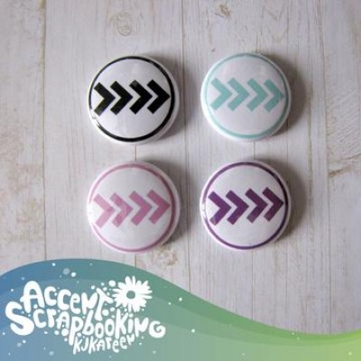 "Accent Scrapbooking - Badges modèle ""Chevrons"""