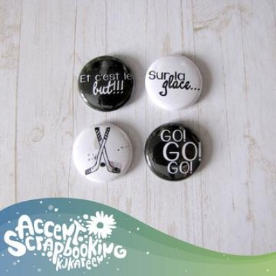 "Scrap Accent - Badges modèle ""Hockey"""