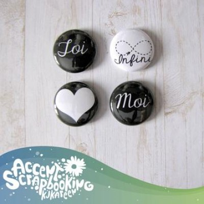 "Scrap Accent - Badges modèle ""Infini"""
