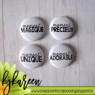 "Scrap Accent - Badges modèle ""Moment"""