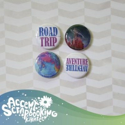 "Accent Scrapbooking - Badges modèle ""Moodboard Mai"""