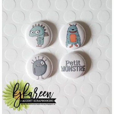 "Scrap Accent - Badges modèle ""Petit monstre"""