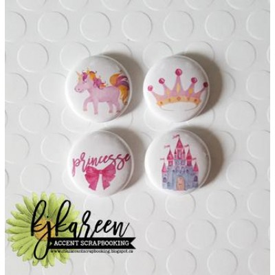 "Accent Scrapbooking - Badges modèle ""Princesse"""