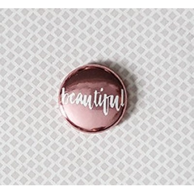 "Accent Scrapbooking - Badge modèle ""Beautiful métallique rose"""