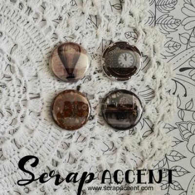 "Scrap Accent - Badges modèle ""Steampunk 2 """