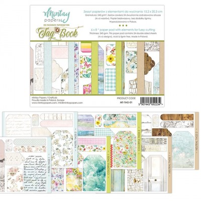 """Mintay - Papier 6"""" X 8""""  collection «Tag Book» 24 pages recto-verso"""
