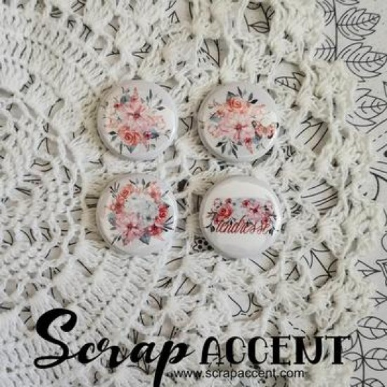 """Scrap Accent - Badges modèle """"Tendresse """""""