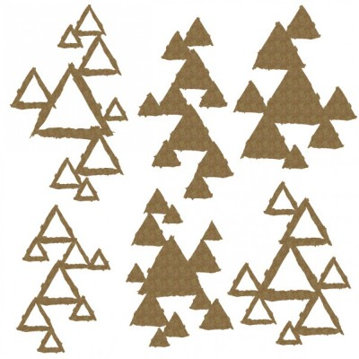 Creative Embellishments - Chipboard «triangle pieces»