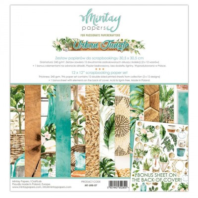 "Mintay - Papier 12"" X 12""  collection «Urban Jungle» 12 pages recto-verso"