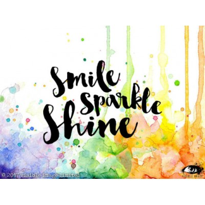 "Visible Image - Estampe ""Smile Sparkle Shine"""
