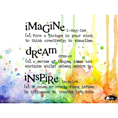 "Visible Image - Estampe ""Imagine Dream Inspire"""