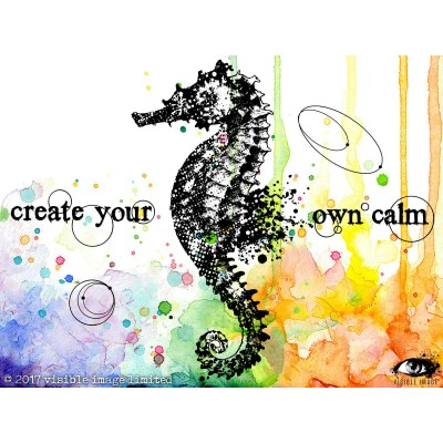 "Visible Image - Estampe ""Create your calm"""