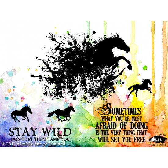 "Visible Image - Estampe ""Stay Wild"""