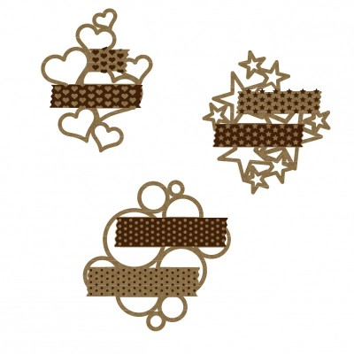 Creative Embellishments - Chipboard «washi shape clusters»